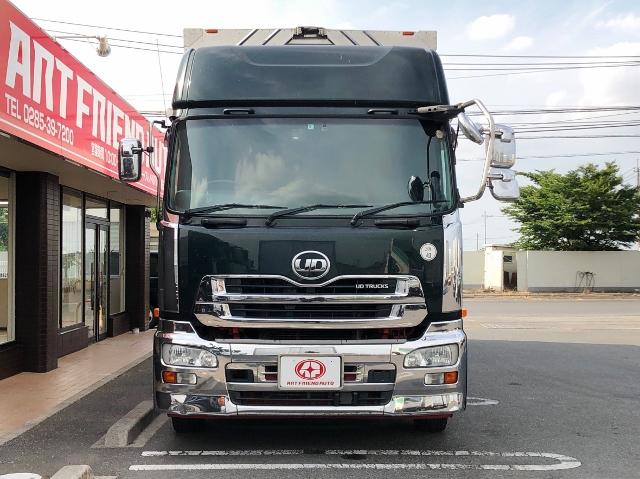 【425】 UDトラックス クオン 低床 冷凍ウイング ハイルーフ リアエアサス