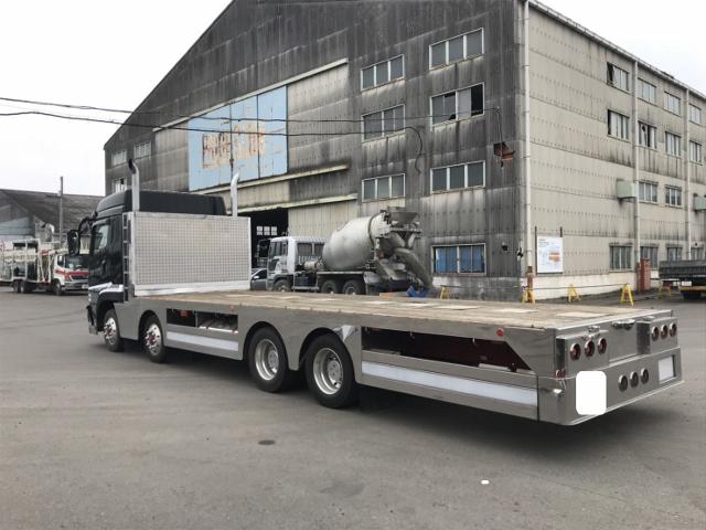 【242】三菱ふそうスーパーグレート ハイルーフ 低床平ボデー V8エンジン