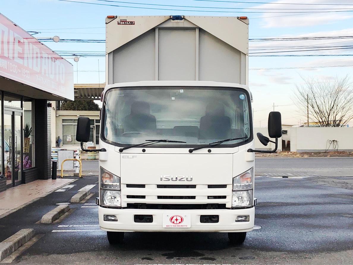 【326】いすゞ エルフ アルミウイング 格納ゲート付