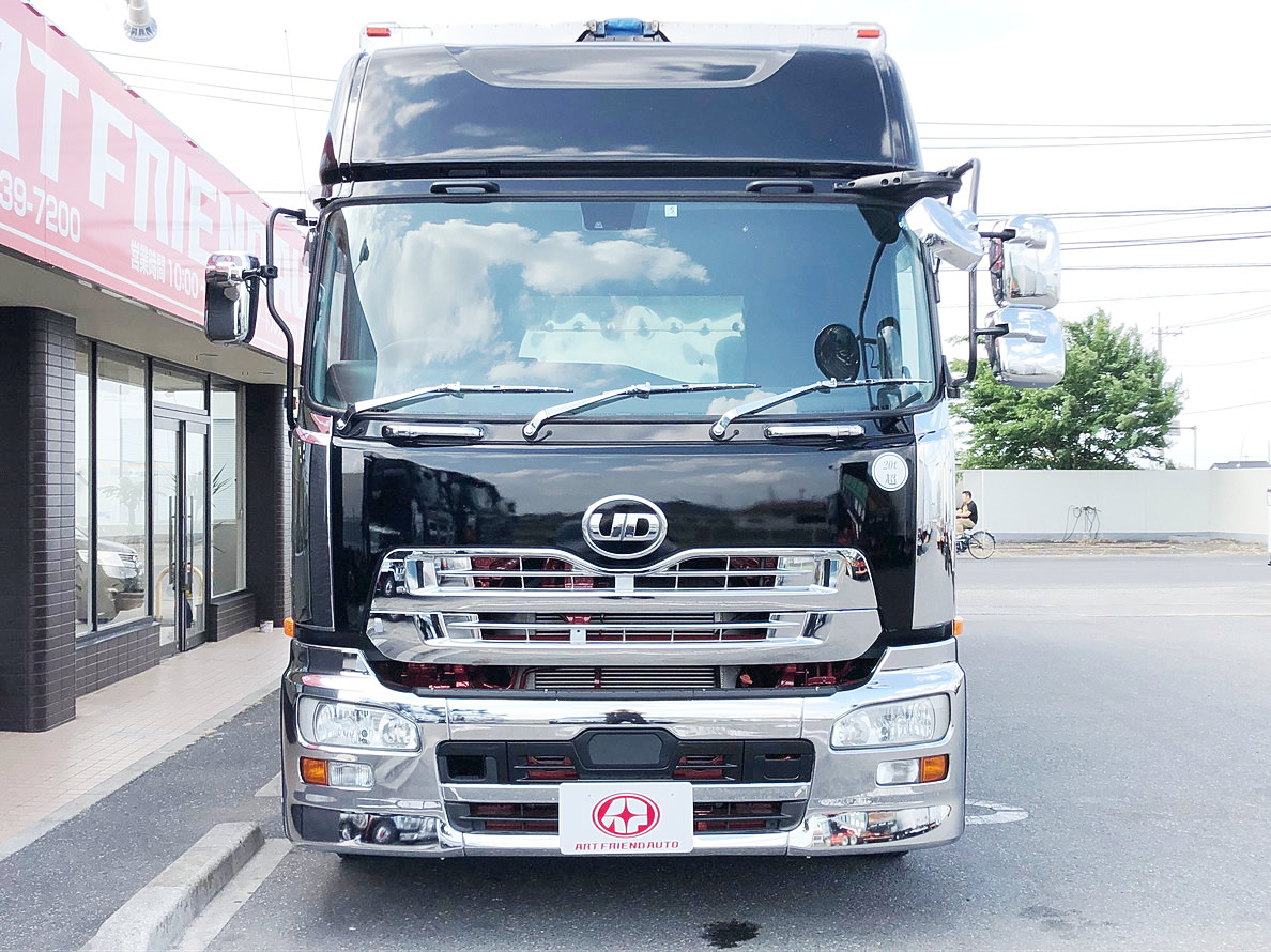 【412】UDトラックス クオン 4軸低床 ウィング エアローラー