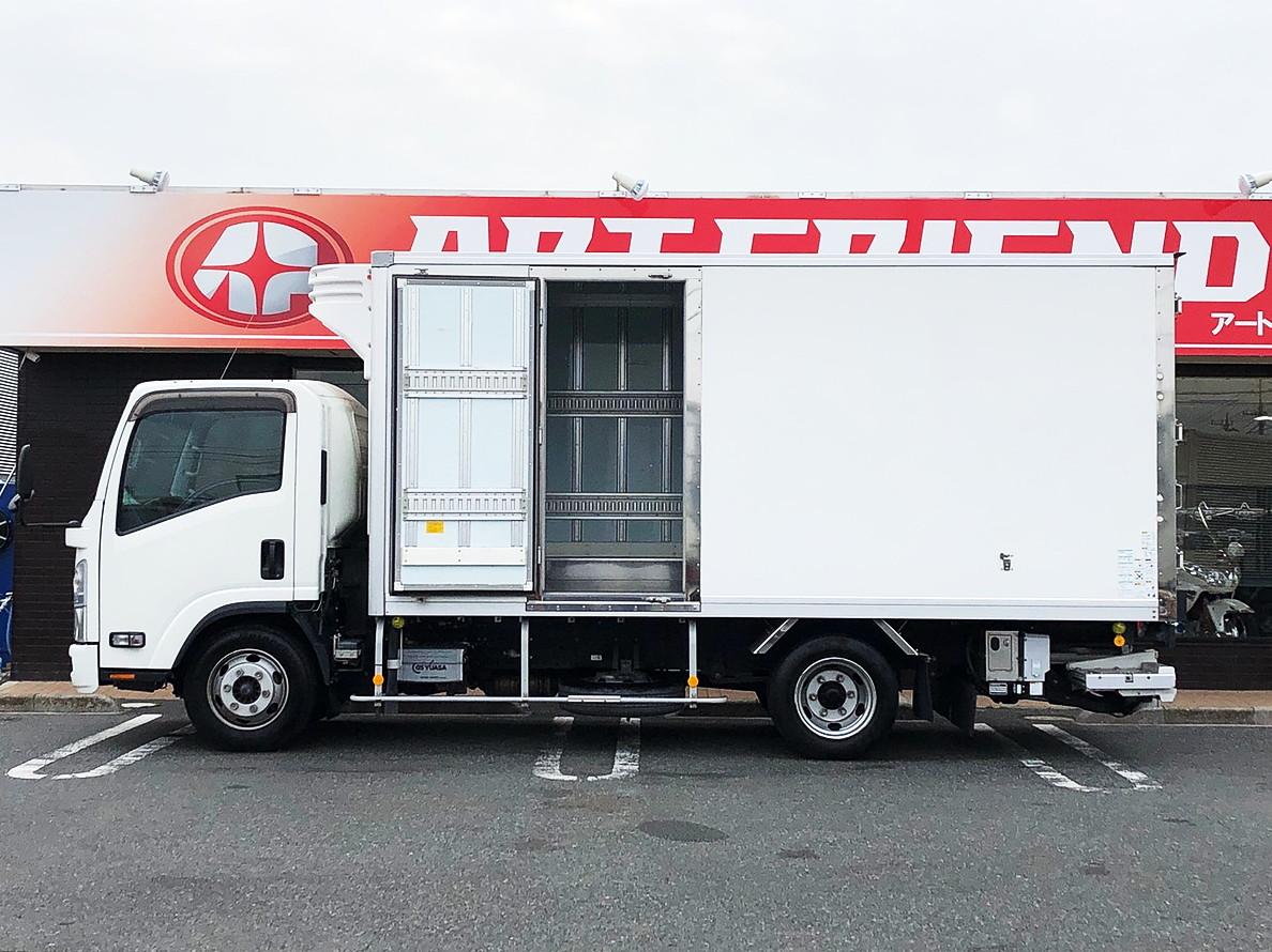 【197】いすゞ エルフ 冷凍バン 格納ゲート ワイドロング