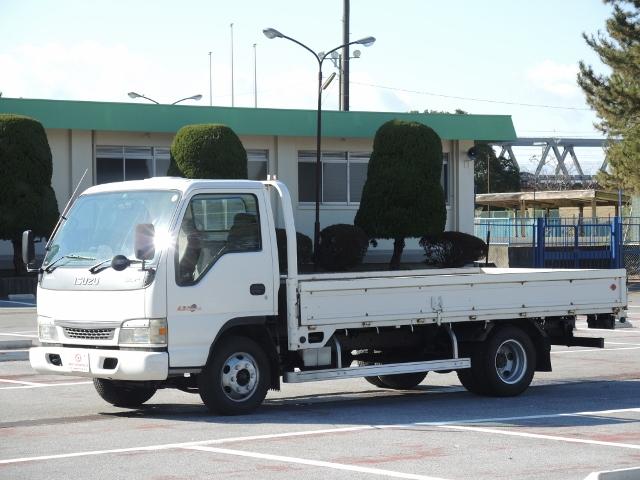 H14 いすゞ エルフ 平ボデー 全低 ワイドロング