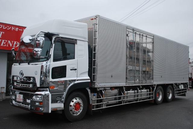 H24 UDトラックス クオン 冷凍バン ハイルーフ 総輪エアサス