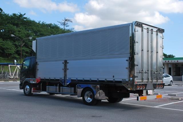 H22 三菱 ベストワンファイター 冷凍ウィング セミワイド 造りボデー 1mアオリ