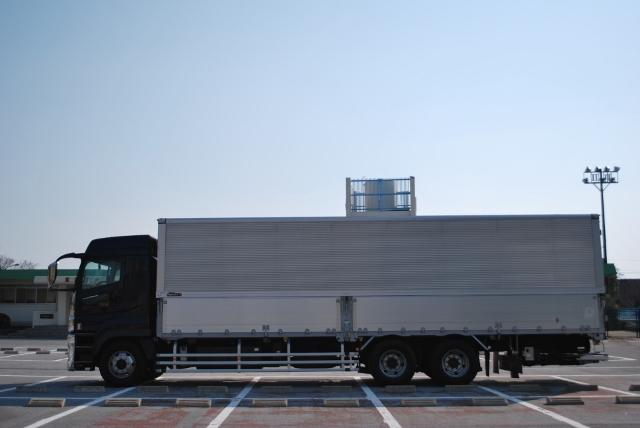 H22 三菱ふそう スーパーグレート アルミウイング ハイルーフ リアエアサス 格納ゲート付