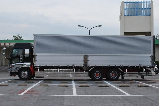 【87】いすゞギガ 高床 アルミウィング ハイルーフ リアエアサス