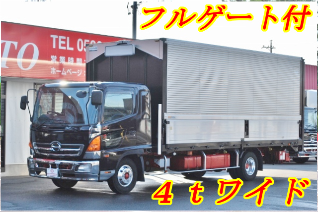 【177】日野レンジャープロ ワイド アルミウイング フルゲート
