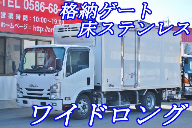 【197】いすゞエルフ 冷凍バン ワイドロング 格納ゲート