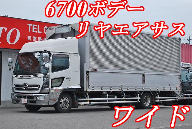 【281】日野レンジャープロ ワイド アルミウイング 6700ボデー リヤエアサス