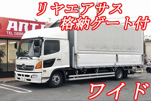 【324】日野レンジャープロ アルミウイング ワイド 格納ゲート リヤエアサス
