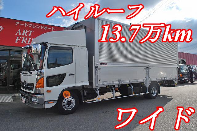 【498】日野 レンジャー ワイド アルミウイング ハイルーフ