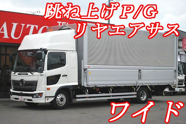【494】日野 レンジャー ワイド アルミウイング 跳上ゲート リヤエアサス