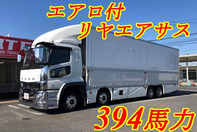 【308】三菱ふそうスーパーグレート 低床 パネルウイング リヤエアサス エアロ車